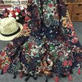 Women Ponchos & Capes Large Sunscreen Wholesale Female Cotton & Linen Floral Tassel Scarfs Holiday 4 Season Suit