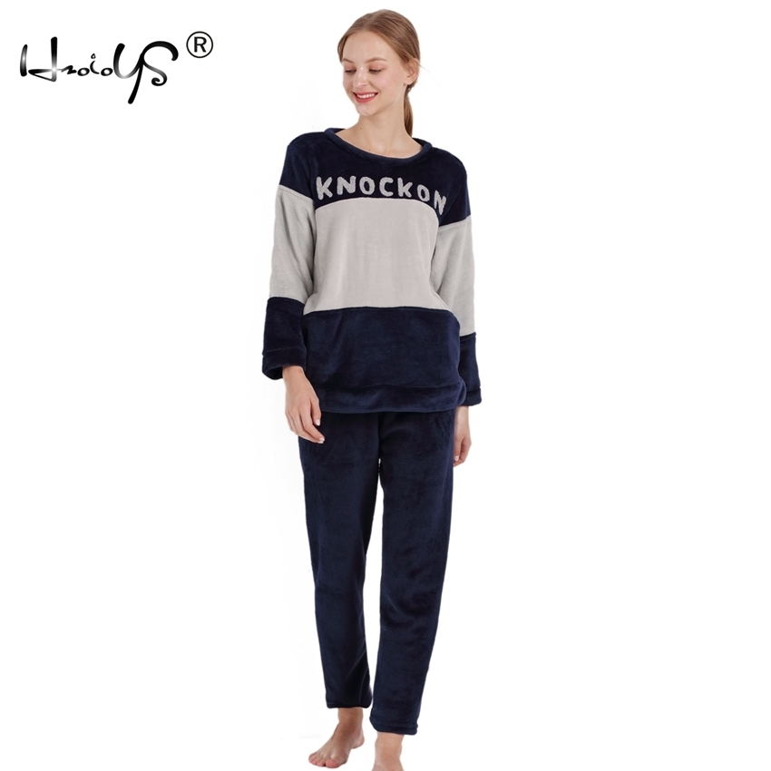 d4caa2098d Buy thick fleece long pajamas for women and get free shipping on  AliExpress.com