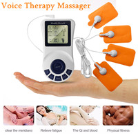 Tens Body Healthy Care Digital Meridian Electronic Pulse Therapy Massager Kit With 4 Way Electrode Pad