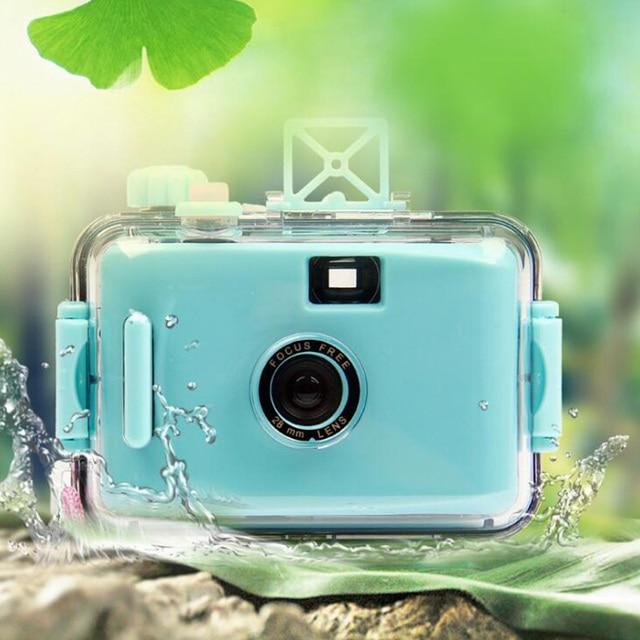 US $9 58 19% OFF Ekosa LOMO Underwater Waterproof Mini 5 Colors lomo camera  Hello Kitty US Flag free shipping auto focus camer 35mm Film Camera -in