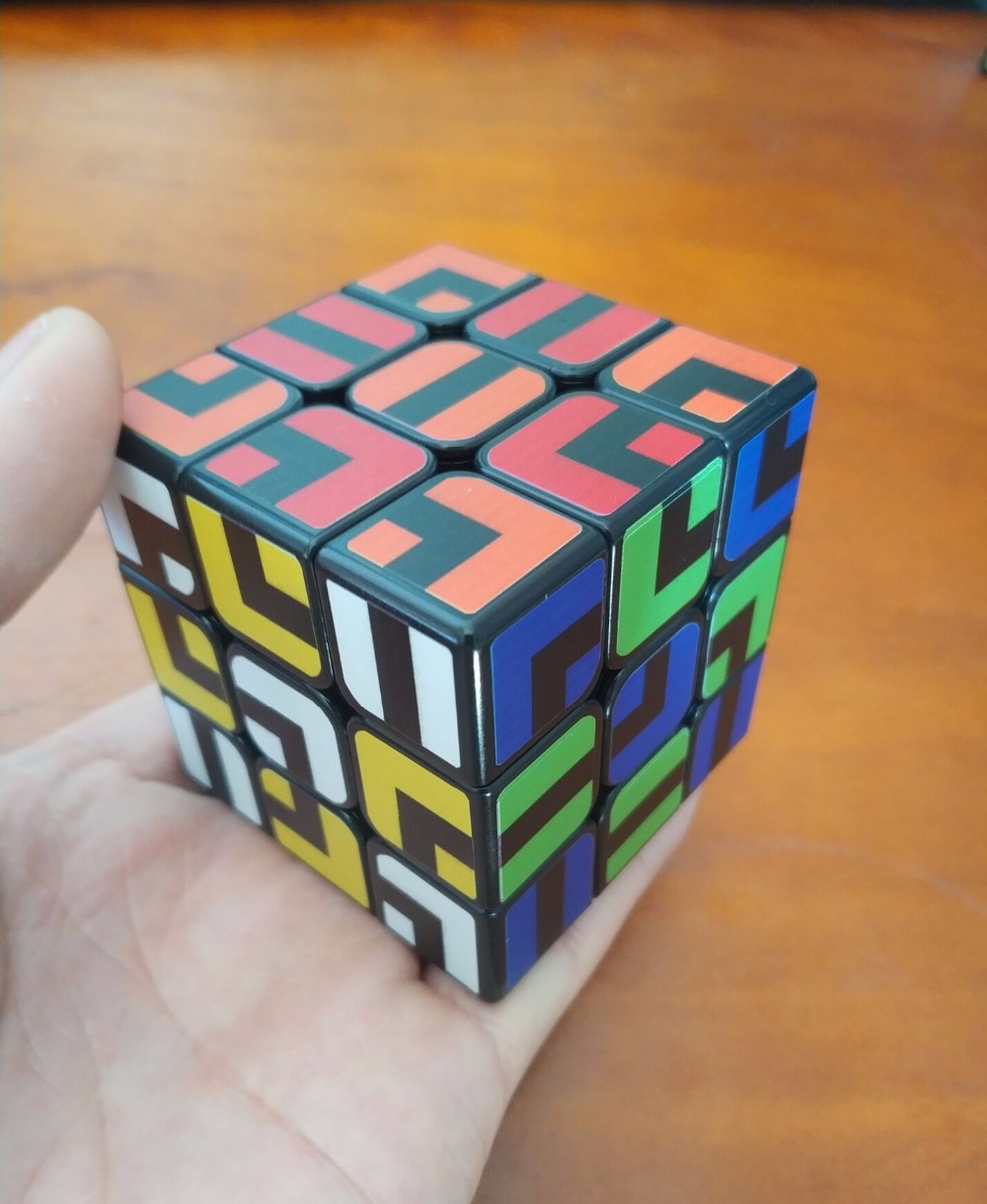 ZCUBE Colorful Sticker 3x3x3 Cube 3x3 Cubing Speed  Professional 3 Player Triangle Shape Twist Educational Kid Toys 3