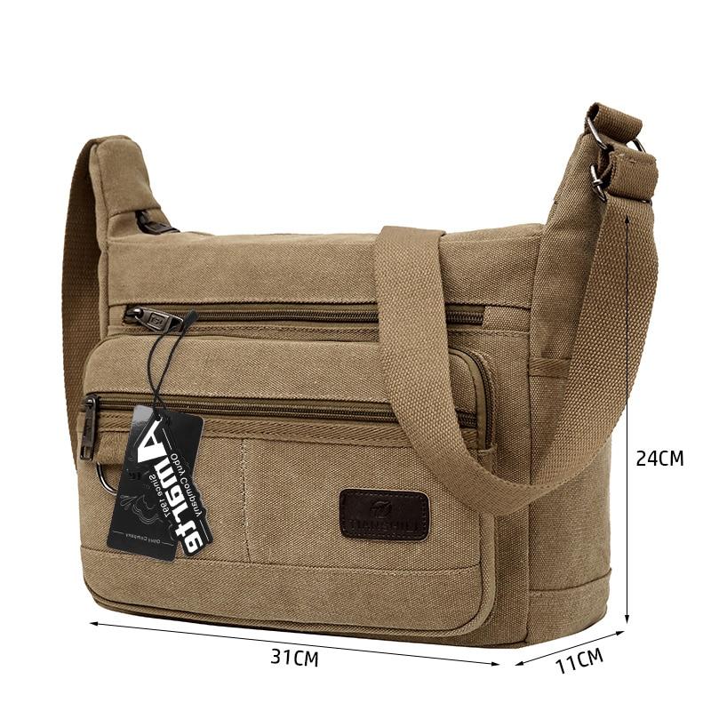 Amarte 2017 New Fashion Vintage Men Canvas Handbags High Quality Men Shoulder Bags Male Big Capacity Messenger Bags