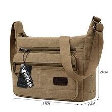Amarte 2019 New Fashion Vintage Men Canvas Handbags High Quality Shoulder Bags Male Big Capacity Messenger