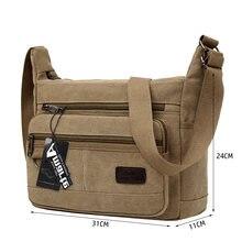 a4785c9ca2dd Amarte 2019 Новая мода Винтаж для мужчин холст сумки Высокое качество на  плечо мужской большой ёмкость