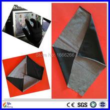 Tela de fibra plateada para pantalla táctil, tela conductora para guantes de telededos