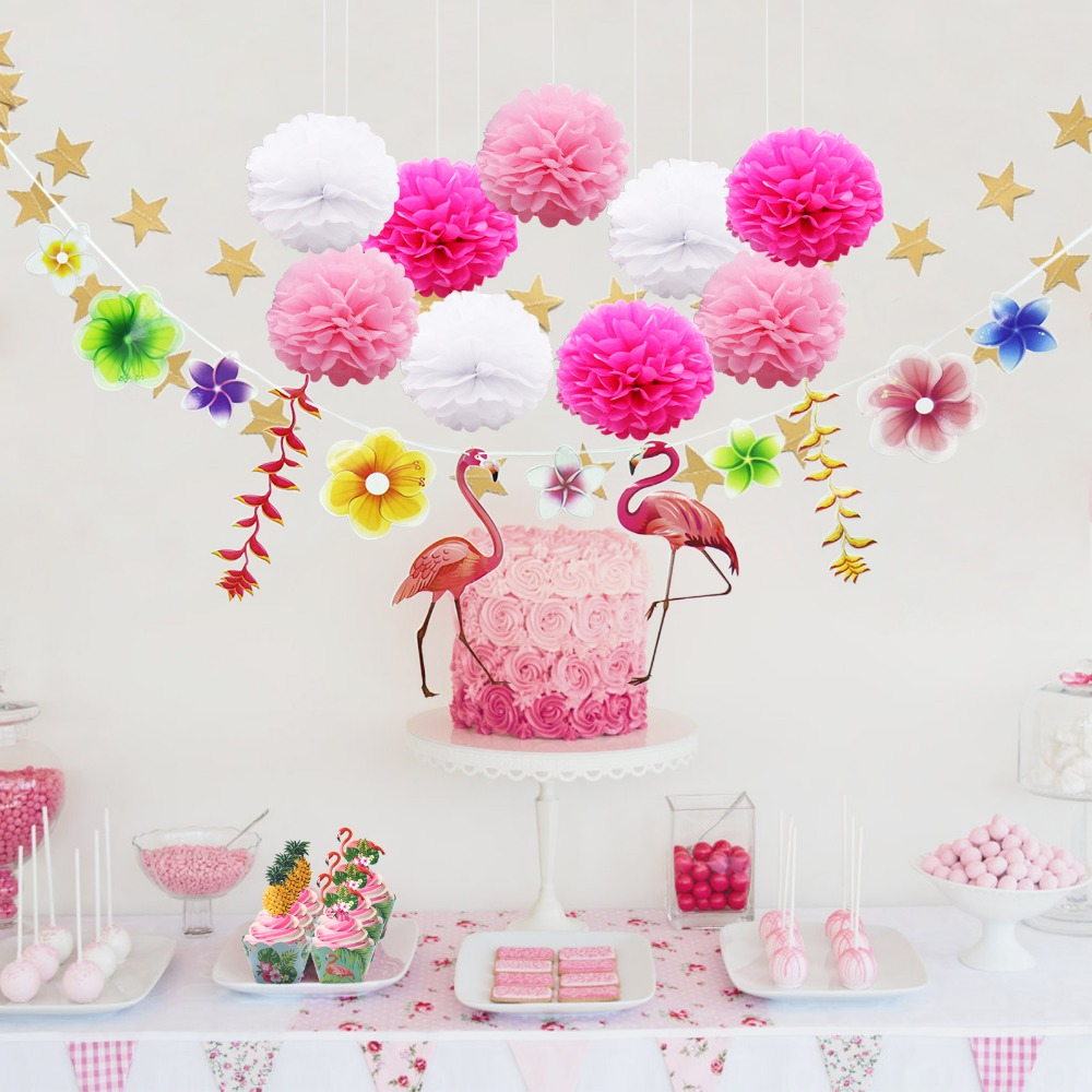 DIY Artificial Foam Lotus Flower Flamingo Balloon Pom Poms ...