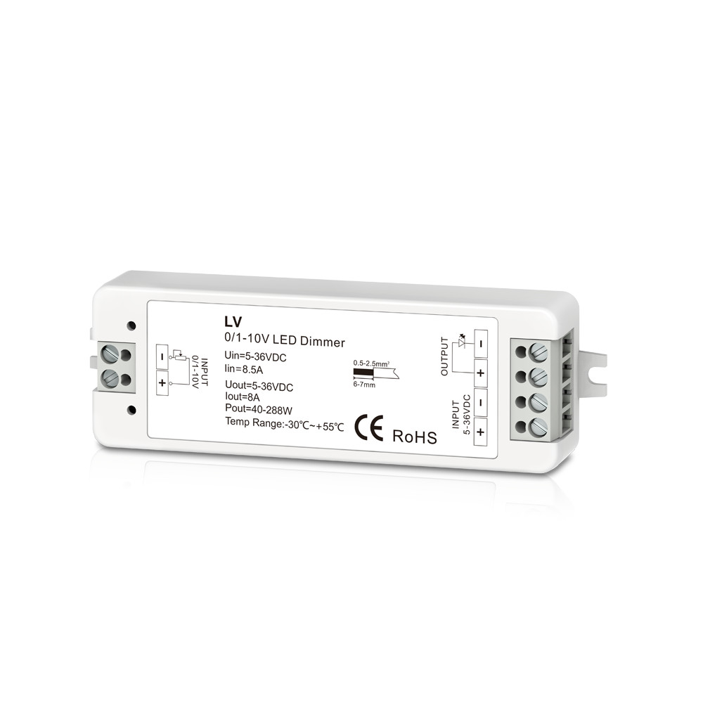 0/1-10V 1CH 8A Dimmable Switches Led Driver 1 Channel 0-10V Constant Voltage LED Dimmer Led Dimming Controller PWM Led Dimmer 5- kvp 24200 td 24v 200w triac dimmable constant voltage led driver ac90 130v ac170 265v input