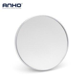 ANHO مرآة لوضع مساحيق التجميل قطب الحمام 3X المكبرة مرآة مصاصة للتدوير مرآة الجمال الوجهين مرآة حمام ماكياج