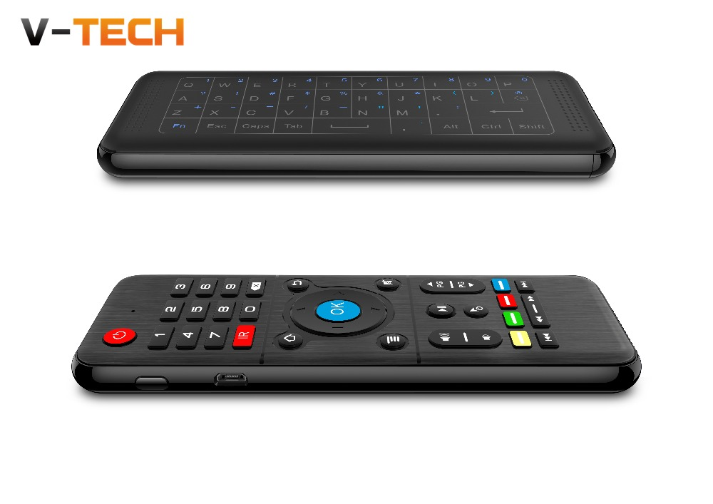 H1 2.4GHz 6-Axis Fly Air Mouse Wireless Keyboard Full Touchpad Remote Control IR Learning for Smart TV Android TV BOX Laptop PC fly e135 grey tv