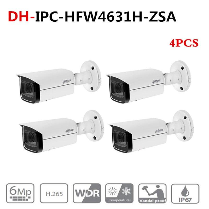 Câmera IP IPC-HFW4631H-ZSA 6MP ahua Atualizar a partir de IPC-HFW4431R-Z 4 pçs/lote com Configuração no Microfone slot para Cartão SD PoE Câmera 6MP