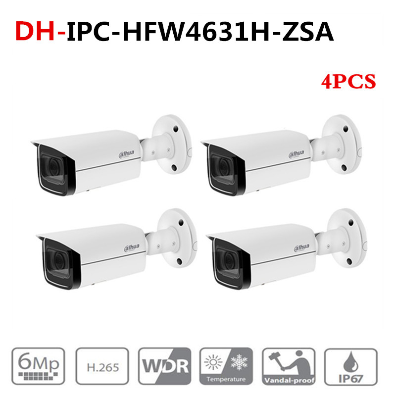 ahua 6MP IP Camera IPC-HFW4631H-ZSA Upgrade from IPC-HFW4431R-Z 4Pcs/lot with Build in Microphone SD Card slot PoE Camera 6MPahua 6MP IP Camera IPC-HFW4631H-ZSA Upgrade from IPC-HFW4431R-Z 4Pcs/lot with Build in Microphone SD Card slot PoE Camera 6MP