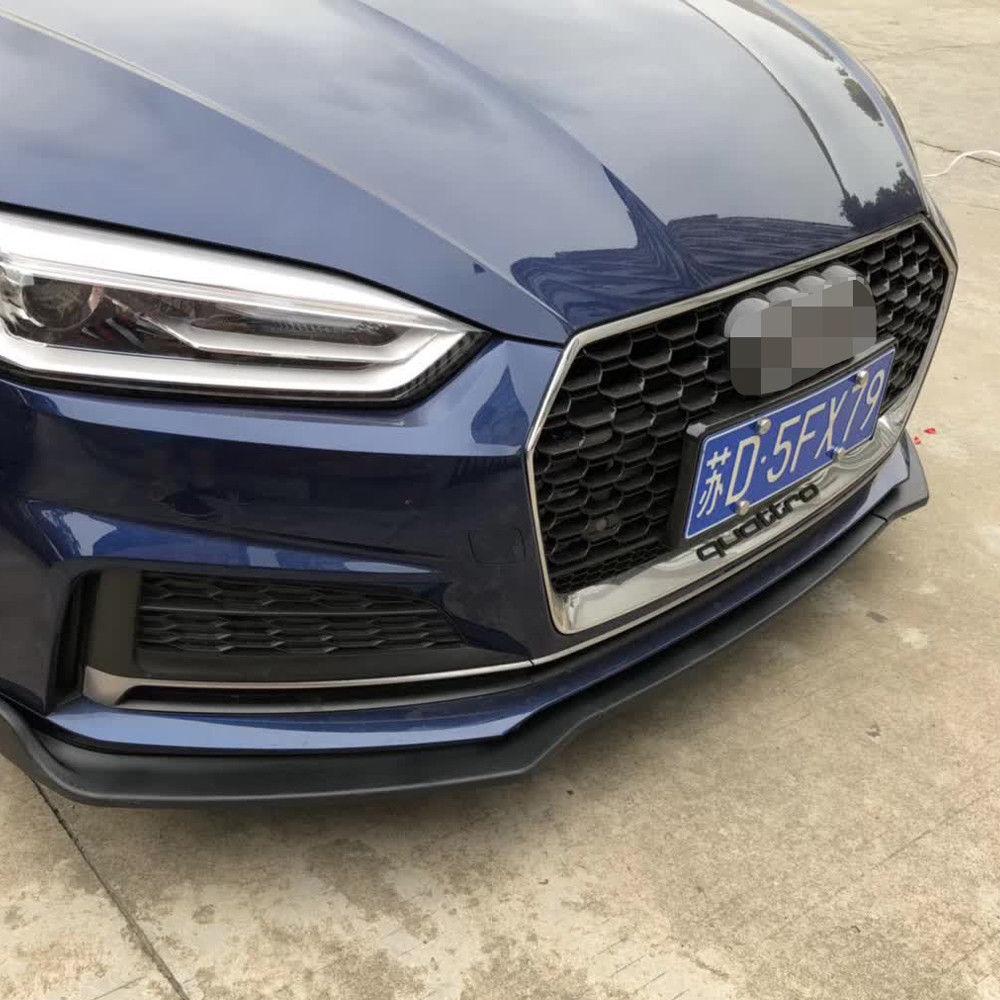 abs Front Lip Bumper for Audi A5 2 door 4 door convertible car 2017 up 3 pieces car accessies