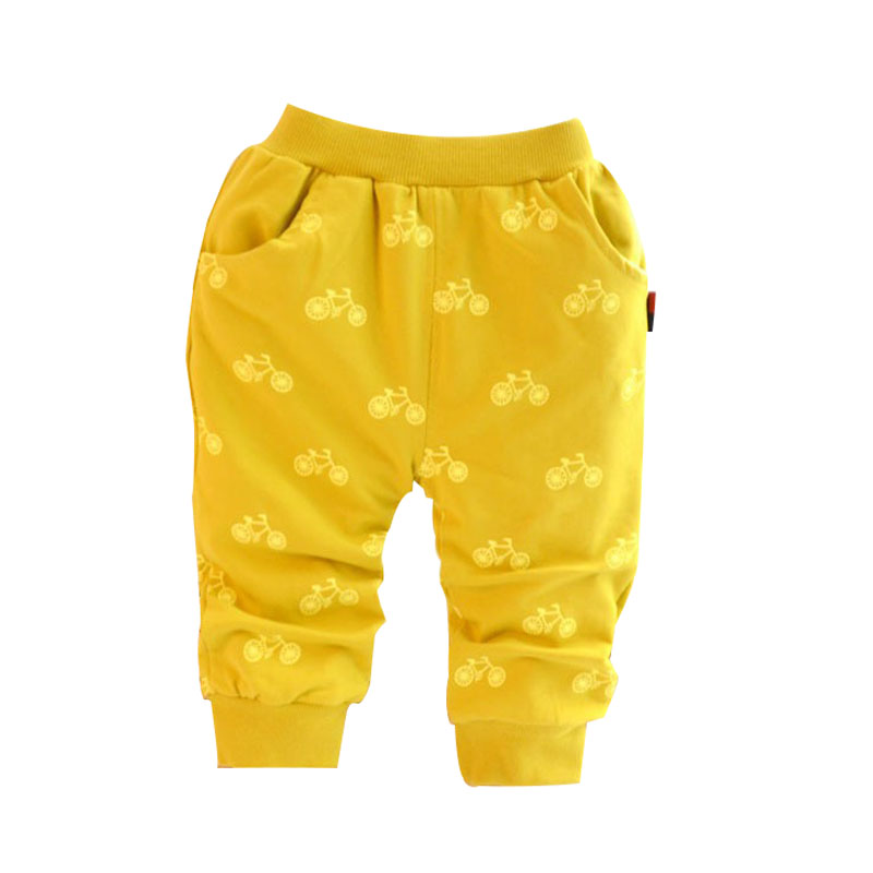 2016 New Spring And Autumn Cotton Korean Style Bicycle Design Baby Pants 0-2 Year Children Pants Baby Boy / Girls Pants