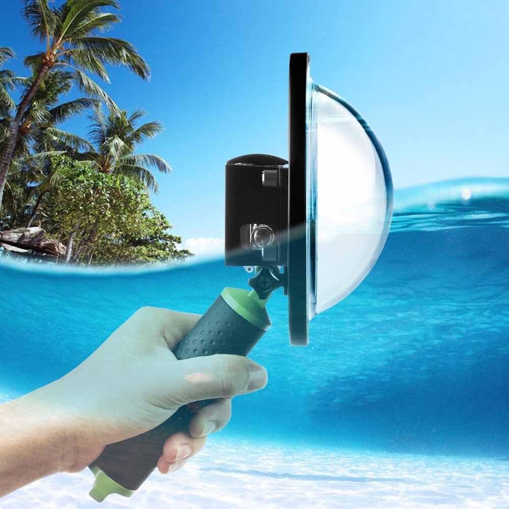 Стрелять 6 дюймов купольный чехол для дайвинга для GoPro Hero 4 3 + черный, серебристый цвет Go Pro Камера с Водонепроницаемый случае купол для GoPro 3 + 4 ...