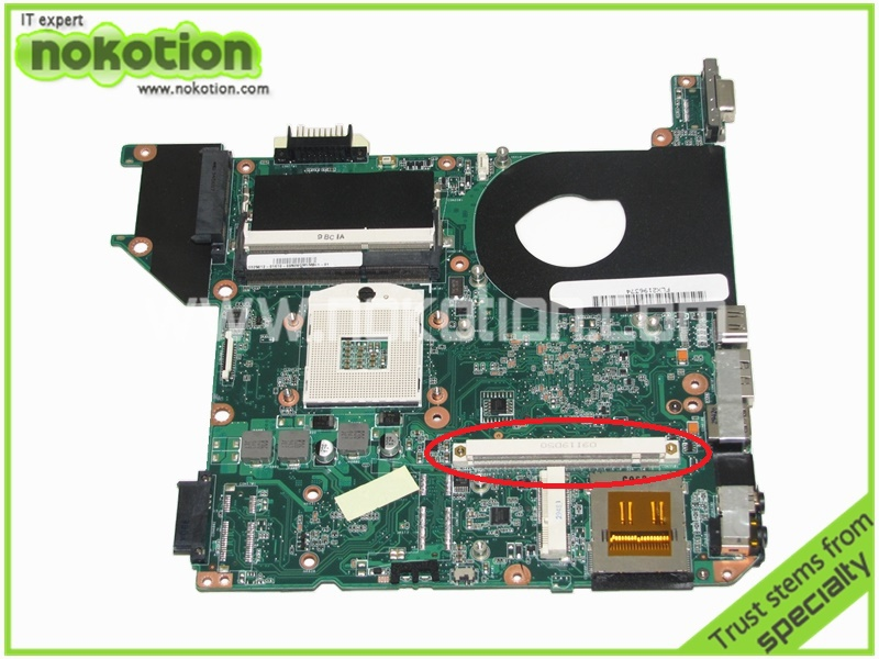 NOKOTION H000023260 Laptop motherboard for Toshiba Satellite U500 intel HM55 PN 08N1-0CK4Q00 REV 2.1 With graphics slot for toshiba satellite l745 l740 intel laptop motherboard a000093450 date5mb16a0 hm65 tested