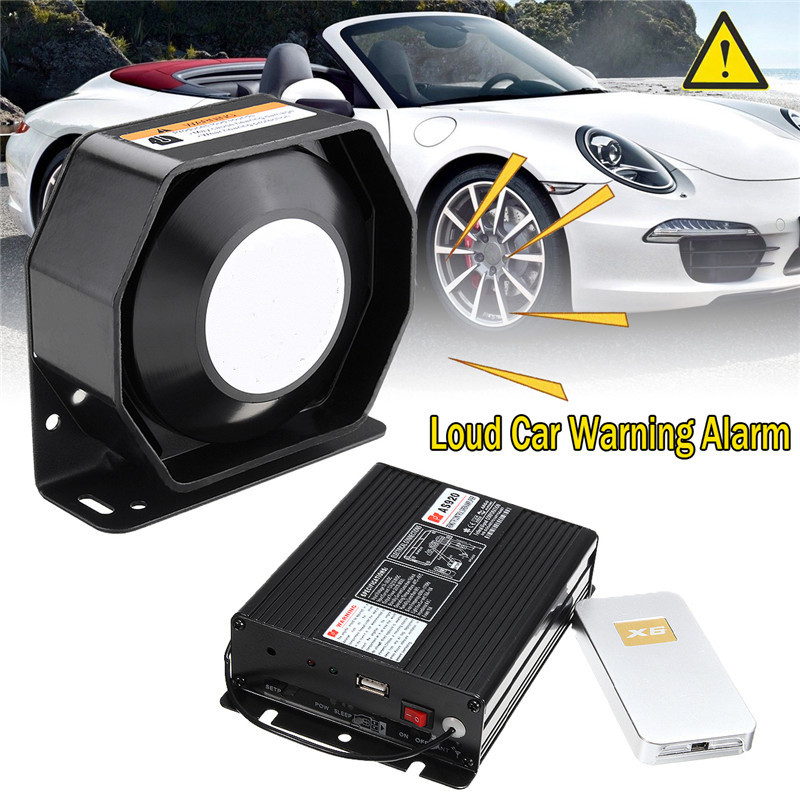 KROAK 200W 12V DC Loud Car Warning Alarm P olice F ire Siren Horn PA Speaker MIC System kroak 200w 12v dc loud car warning alarm p olice f ire siren horn pa speaker mic system