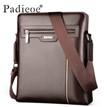 Padieoe Fashion Luxury Brand Men Bag Genuine Leather Casual Male Crossbody Shoulder Messenger Bags Small