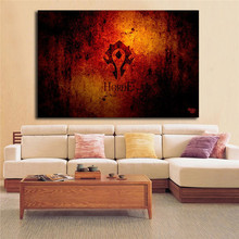 World Of Warcrafts Horde Canvas Painting Print Living Room Home Decor Modern Wall Art Oil Poster Salon Picture Artwork