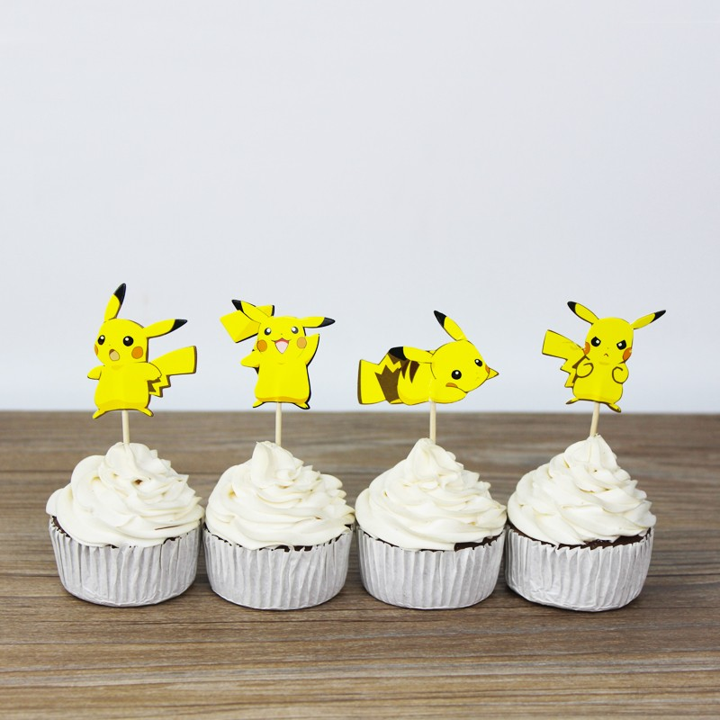 Pikachu Cupcake Toppers