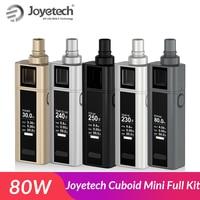 Original JOYETECH Cuboid Mini Full Kit with built in 2400mAh Battery 80W atomizer 5.0ml with bf ss316 coil Electronic kit vape