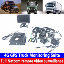 Support cloud storage video AHD 4CH 4G GPS Truck Monitoring Suite hard disk SD card dual mode storage remote Monitoring host