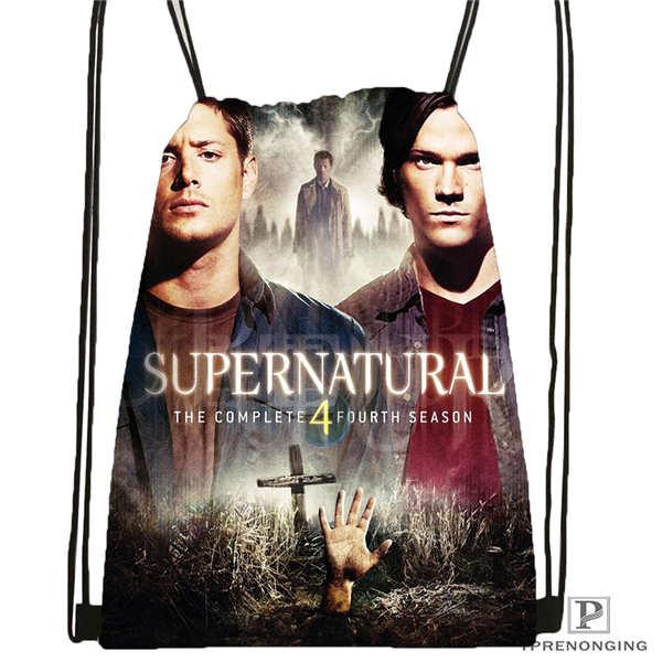 Custom Supernatural Drawstring Backpack Bag Cute Daypack Kids Satchel Black Back 31x40cm 2018611 1 9