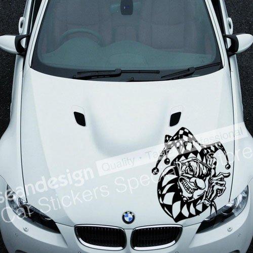 Cool! Totem Clown A 030 Auto Car Decal Sticker PVC (noir + blanc, rouge, or, couleur jaune)