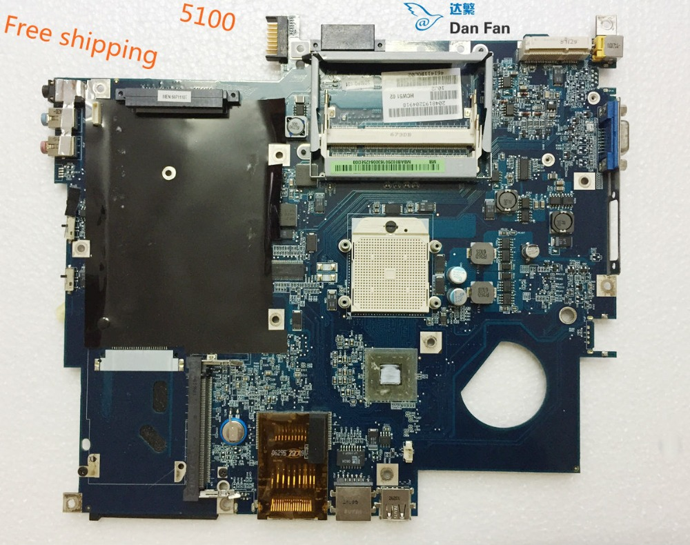MBAEB02001 Laptop Motherboard For ACER Aspire 5100 3100 5110 Motherboard HCW51 LA-3121P Mainboard 100%tested Fully Work