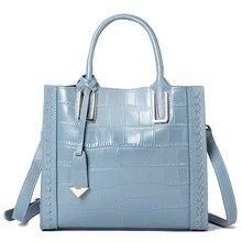 Genuine leather women handbags luxury brand designed bag 2018 Fashion Alligator pattern lady crossbody