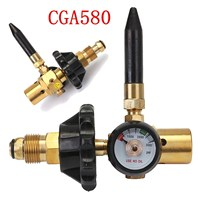 New G5/8 Thread Helium Latex Balloon Inflator Regulator With Accurate Pressure Gauge For CGA 580 Tank Valves 0 3000 PSI