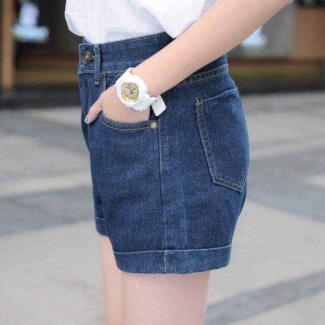 a31bde648072 2016 Korea Style Summer hot Natural high waist jeans shorts code loose edge  bull-puncher knickers GH-3