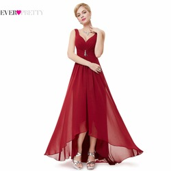 Vestidos de Noche formales EP09983 siempre bonito 2019 recién llegado foto Real de talla grande Doble cuello V pedrería largo vestido de noche