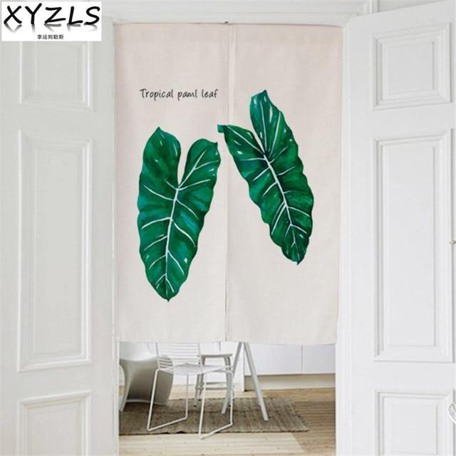 xyzls leaves cotton linen modern kitchen curtain cactus home hotel