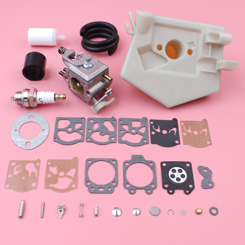 Carburetor Carb Repair Rebuild Kit For Husqvarna 55 51 Air Fuel Filter Line  Intake Boot Spark Plug Chainsaw Replace Part-in Chainsaws from Tools on