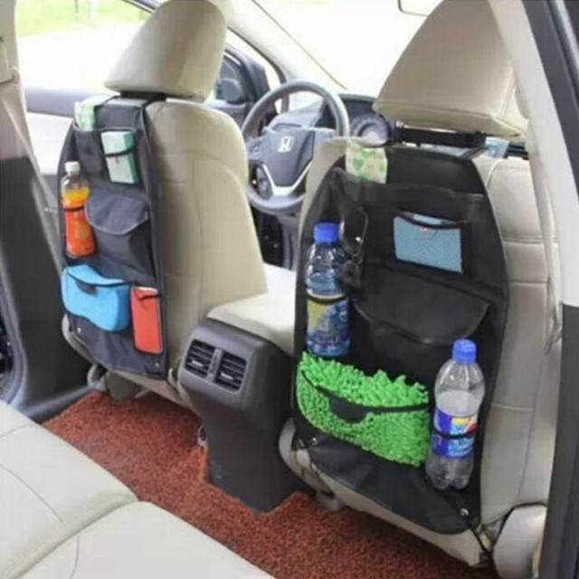 Hot Sale Universal Car Mesh Storage Bags Back Seat Tidying Covers Hanging Drinks Tissue Oragizer
