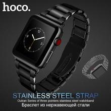 Bracelet dorigine en acier inoxydable HOCO 316L pour montre Apple série 1 2 3 4 5 bandes 42mm 44mm Bracelet de remplacement
