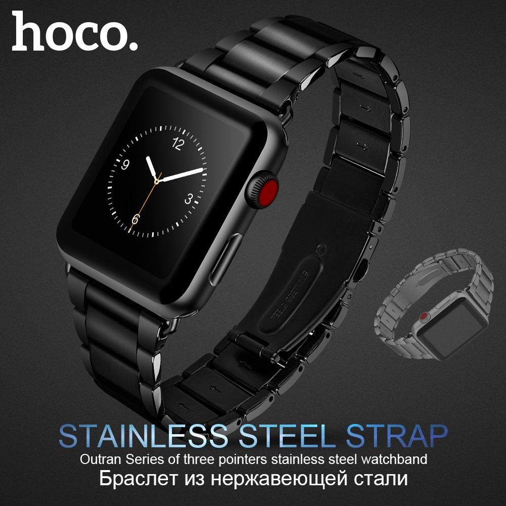 Bracelet d'origine en acier inoxydable HOCO 316L pour montre Apple série 1 2 3 4 5 bandes 42mm 44mm Bracelet de remplacement
