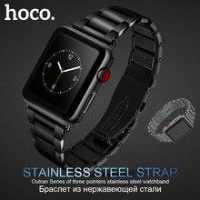 الأصلي HOCO 316L الفولاذ المقاوم للصدأ حزام ل أبل سلسلة ساعة 1 2 3 4 5 الفرقة 42 مللي متر 44 مللي متر معصمه استبدال سوار