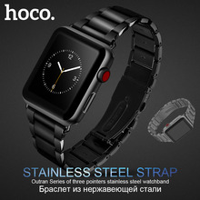 Original HOCO 316L Stainless Steel Strap For Apple Watch Series 1 2 3 4 Band 42mm 44mm Wristband Replacement Bracelet original hoco 316l stainless steel band for apple watch series 4 3 2 1 metal wrist strap 42 44mm watchband replacement bracelet