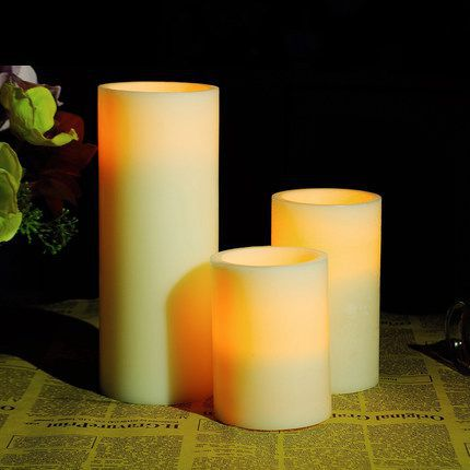 Delightful Romantic Electronic Paraffin Wax LED Candle Lamp Flameless Flickering Electric  Candle Light, Free Shipping