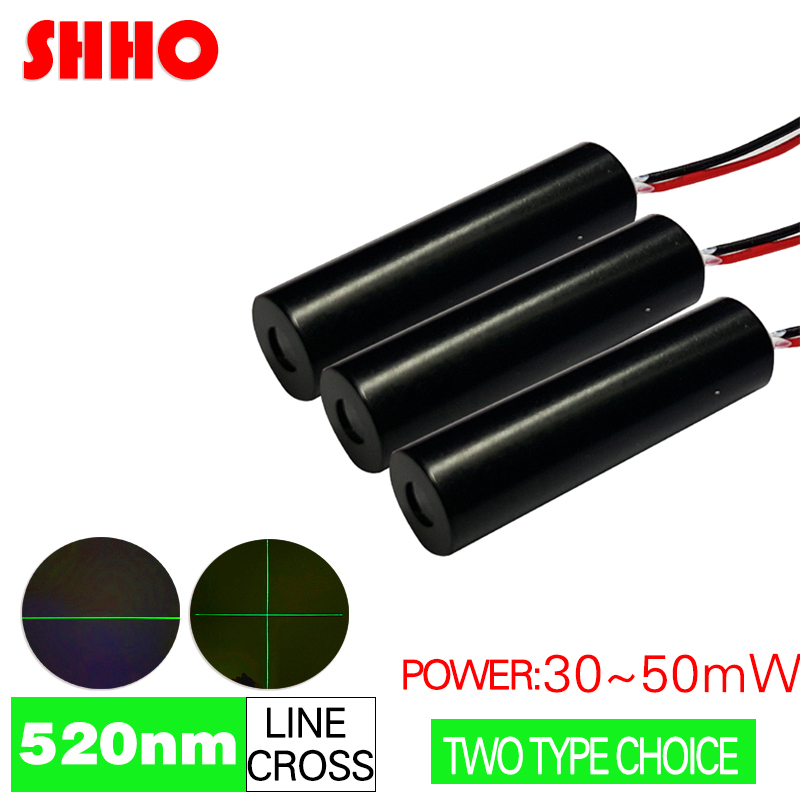 high quality 520nm green light line or cross laser module 30mw to 50mw power selectable Parts of Building Level Instrument