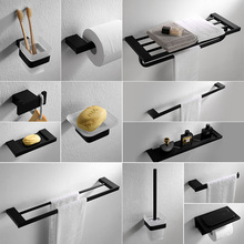 auswind vintage black oiled bronze bathroom accessories square base 304 stainless steel antique wall mount bathroom