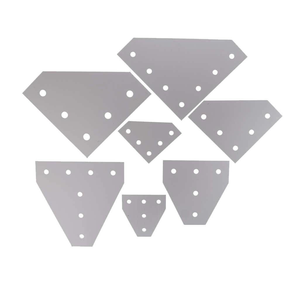 Joint Strip for Aluminum Profile <font><b>2020</b></font> 3030 4040 with 5/7 holes 6063-T6 Joint Board <font><b>Plate</b></font> <font><b>Corner</b></font> Angle Bracket Connection image
