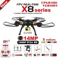 2016 New SYMA X8 X8C X8W 2 4G 4ch 6 Axis RC Quadcopter With SJ7000 14MP