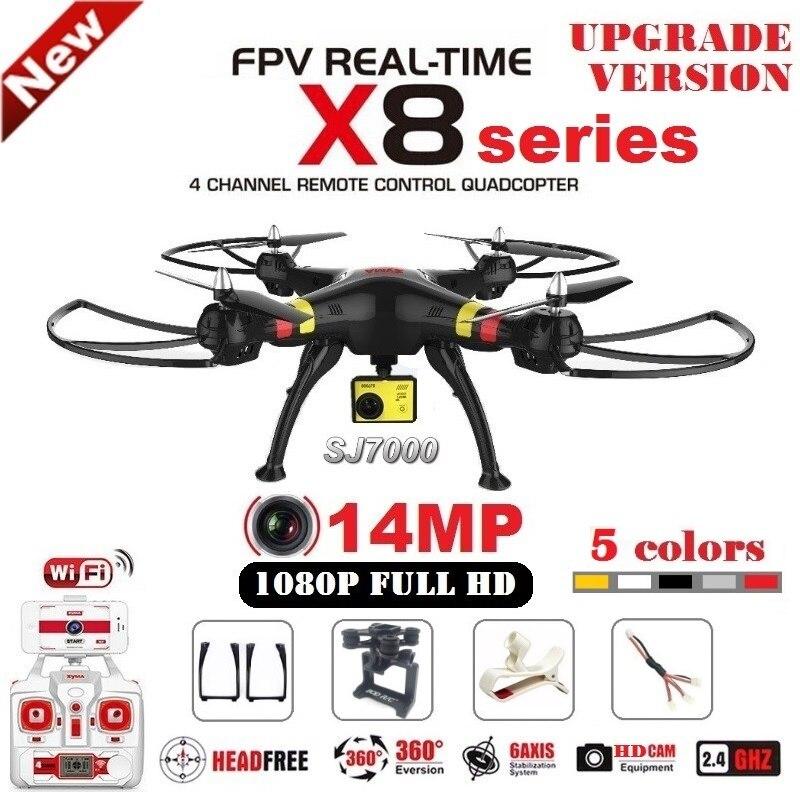 SYMA X8G X8C X8W X8HG RC Drone Mit SJ7000 14MP 1080 p Full HD WiFi Kamera 2,4G 4CH FPV Quadcopter Professionellen Drone