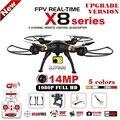 Syma x8g x8c x8w x8hg rc drone con sj7000 14mp 1080 p Full HD WiFi Cámara 2.4G 4CH Quadcopter FPV Profesionales Drone