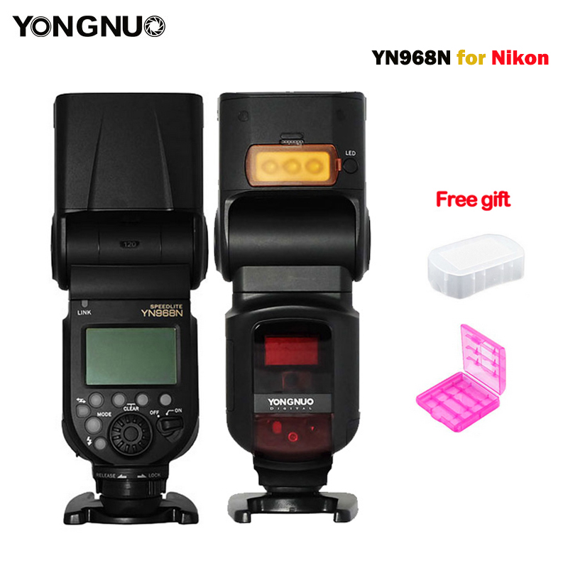 YONGNUO YN968N Flash Speedlite Wireless TTL 1 8000 with LED Light for Nikon Camera Compatible with