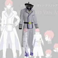 Re Life in a different world from zero Reinhard Cosplay in men Costume Halloween men's uniform complete costume The long cloak