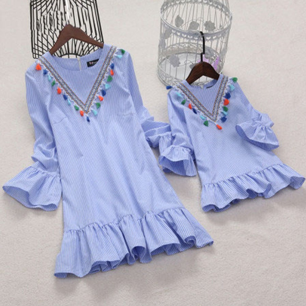 Mom Woman Gown Household Matching Mom And Daughter Garments Summer time Outfits Woman Child Clothes Gown Mother And Daughter Gown Matching Household Outfits, Low cost Matching Household Outfits, Mom...