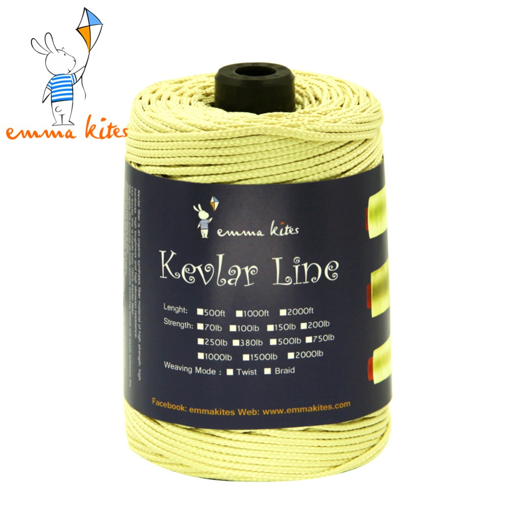 Emmakites 300ft /91m 1500LB Kevlar Line For Single Line Kite Flying Braided Fishing Line Outdoor Camping Hiking Garden Cord emmakites 500ft 152m 1500lb kevlar line for single line kite flying braided fishing line outdoor camping hiking garden cord